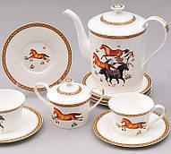 Чайный сервиз Fast Horse 220мл 15 предметов на 6 персон, костяной фарфор