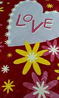 Плед акриловый Mink 420 Love красный 220х240см