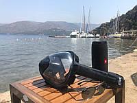 Полнолицевая маска для подводного плавания,снорклинга и ныряния,L/XL black