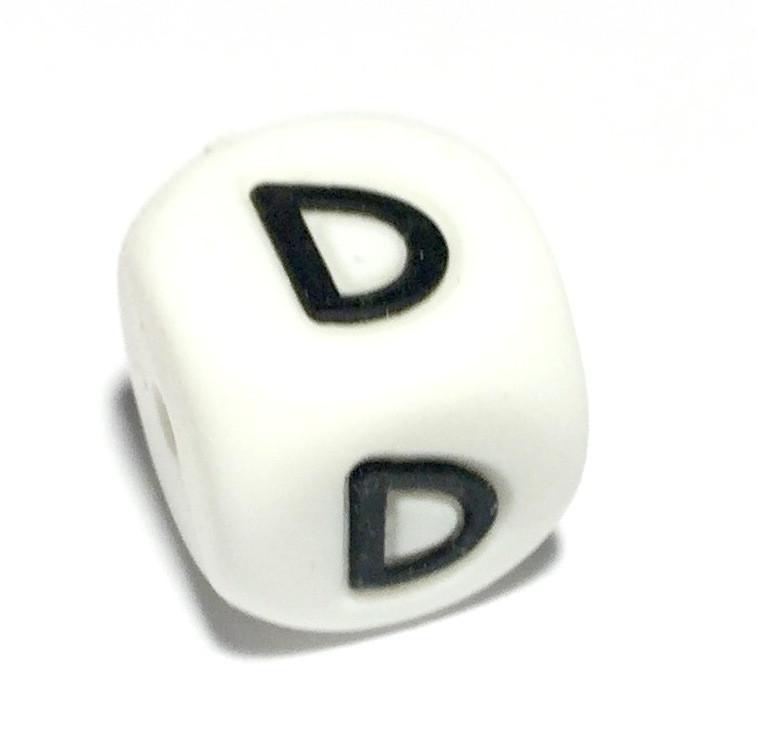 Буква - D (силиконовые бусины)