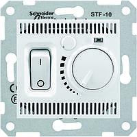 Термостат для теплого пола 10А, с датчиком 4м белый - Schneider Electric Sedna