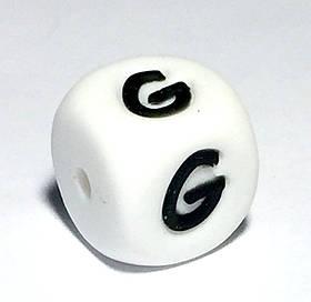 Буква - G  (силиконовые бусины)