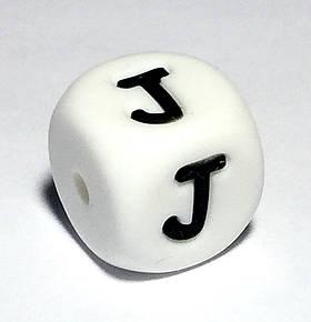 Буква - J (силиконовые бусины)