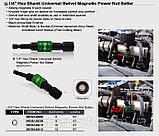 Головка на шуруповерт 8мм L=87мм с шарниром магнитная BEBA0808 (Toptul, Тайвань), фото 3