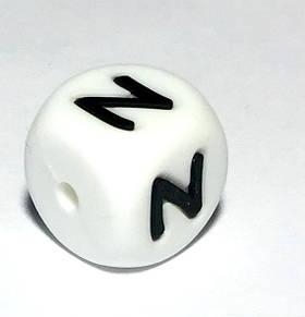 Буква - N  (силиконовые бусины)