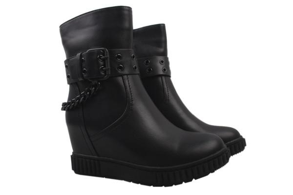 Ботинки Oeego из натуральной кожи, цвет черный
