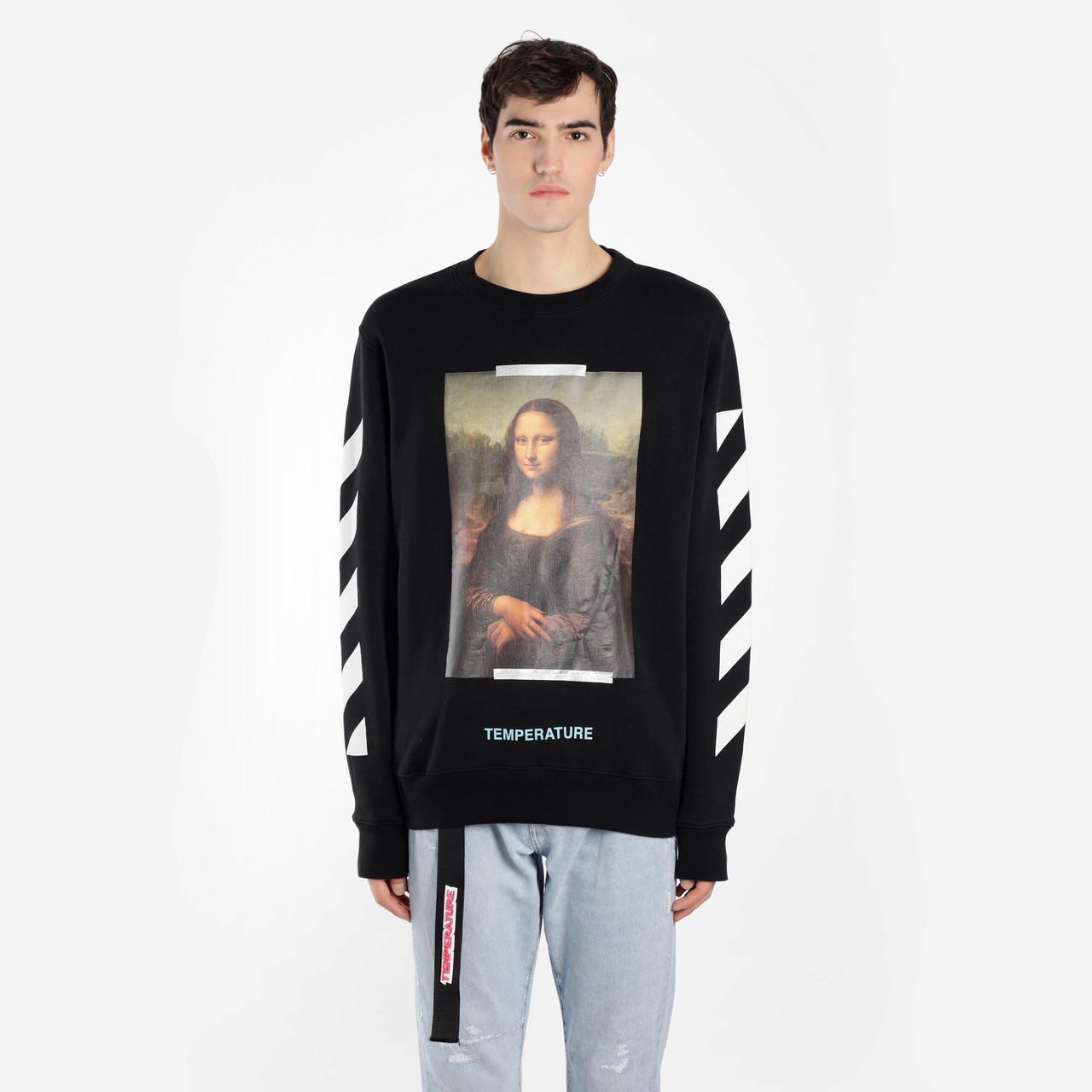 Свитшот OFF WHITE Mona Lisa B • Черный свитер • Оригинальный принт • Все размеры • Топ бирки