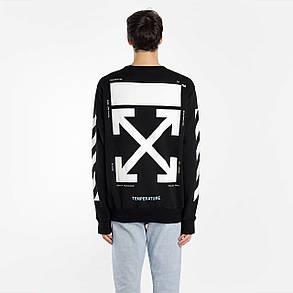 Свитшот OFF WHITE Mona Lisa B • Черный свитер • Оригинальный принт • Все размеры • Топ бирки, фото 2