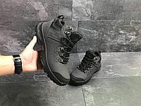 Мужские зимние кроссовки Ecco 6833 серые, фото 1