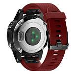 Силиконовый ремешок Primo для часов Garmin Fenix 5S / 5S Plus / 6S - Red, фото 2