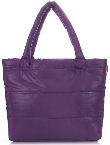 Дутая женская сумка POOLPARTY pp4-violet фиолетовая