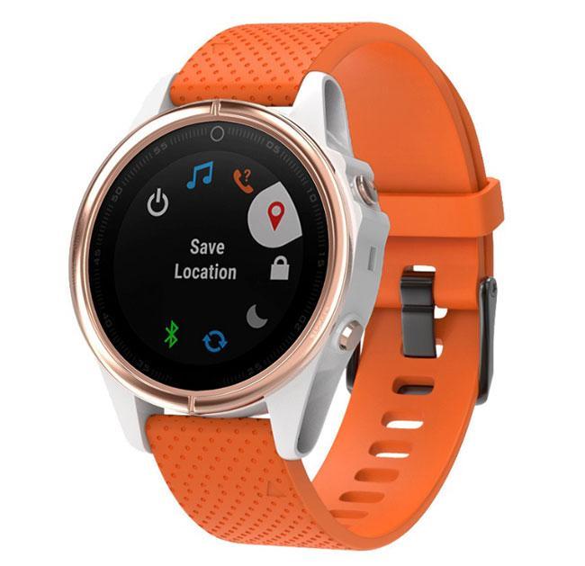 Силиконовый ремешок Primo для часов Garmin Fenix 5S / 5S Plus / 6S - Orange