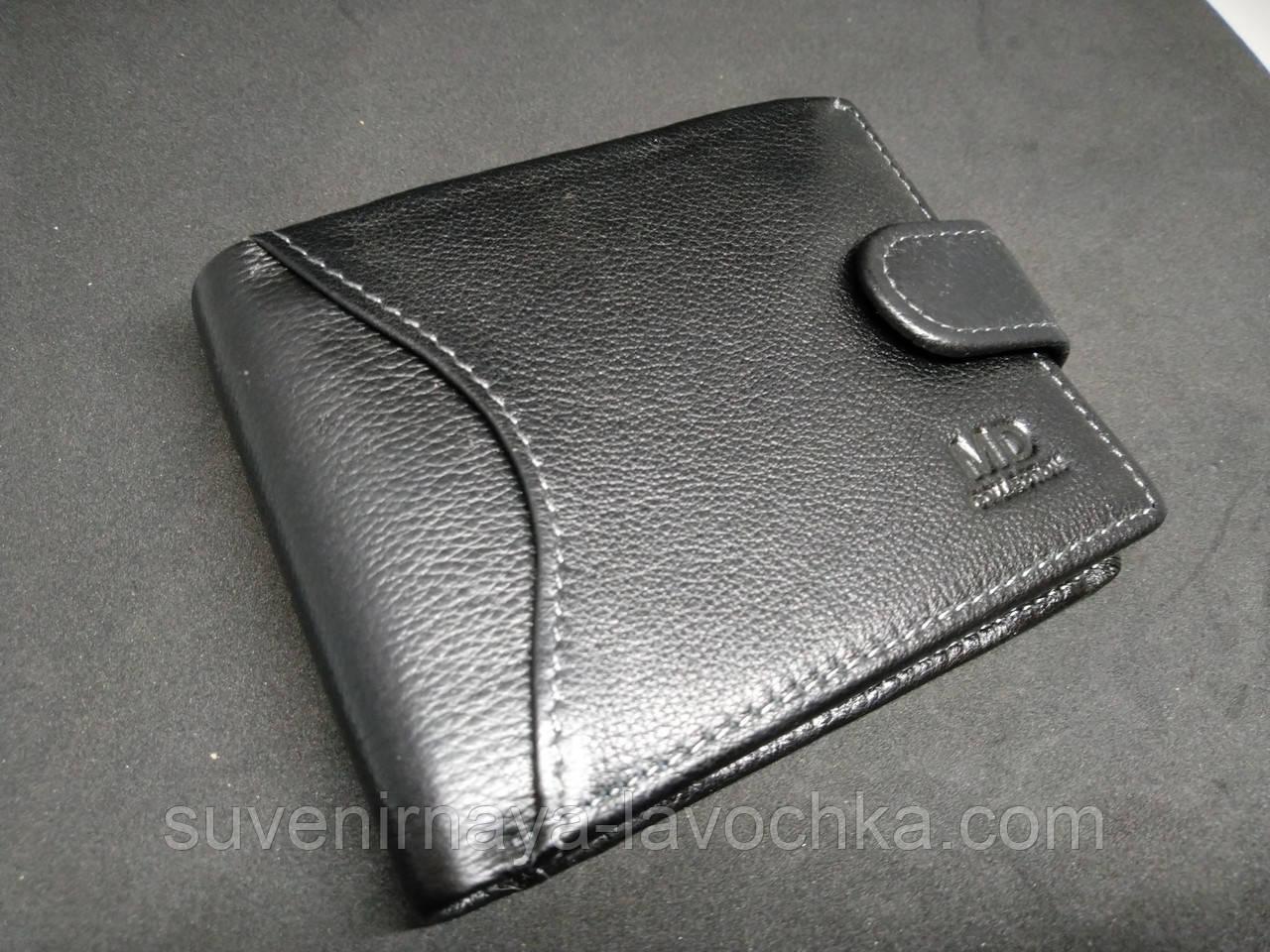 Чоловічий гаманець Classic шкіра MD Collection 208-G black Фірмовий