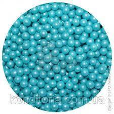 """Кондитерская посыпка """"Жемчуг голубой с блеском"""", 3,5 мм."""