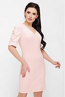 abfd02abed5 Женское нарядное персиковое платье в категории платья женские в ...