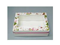Коробка для пирожного 250*170*80 (с окошком) принт
