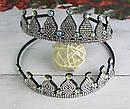 Обручи для волос Корона в белых стразах 12 шт/уп, фото 2