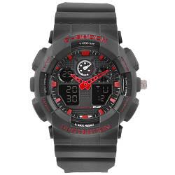 Часы наручные C-SHOCK GA-100 Black-Red, подсветка 7 цветов