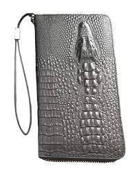 Портмане ,кошелёк, клатч Baellery ALLIGATOR  Крокодил Коричневый.