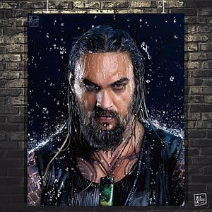 Постер Аквамен, Aquaman (2018). Размер 60x49см (A2). Глянцевая бумага
