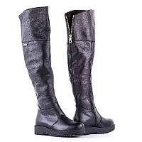 Зимние ботфорты женские черные кожаные 36-41 размеры 67fa1c2800c89