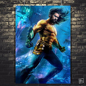 Постер Аквамен, Aquaman (2018). Размер 60x42см (A2). Глянцевая бумага