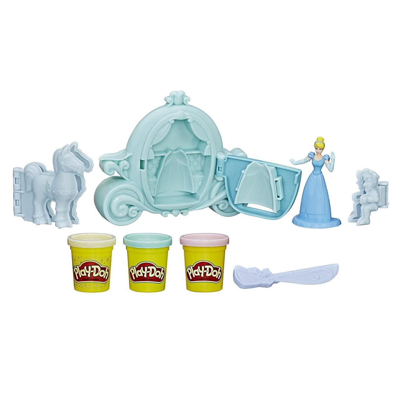 Набор Плей-До Золушка с каретой. Play-Doh Royal Carriage Featuring Disney Princess Cinderella