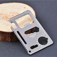 Кредитка мультитул (11 в 1) Нож - кредитная карта