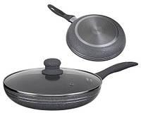 Сковорода с крышкой 28 см Edenberg EB-788, мраморное покрытие