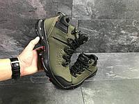 Мужские зимние кроссовки Ecco 6837 темно зелёные, фото 1