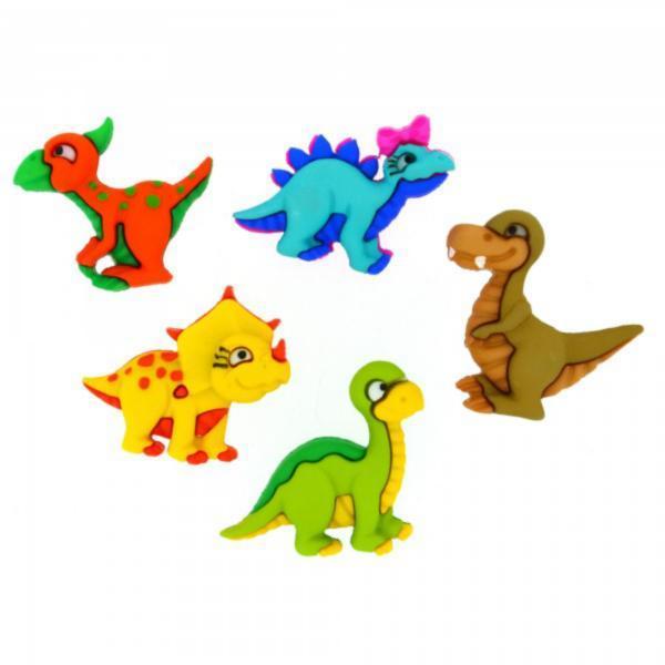 7675 Декоративні гудзики. Динозаврики