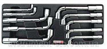 Набор ключей торцевых Г-обр. 8-19мм 10ед. (в ложементе) GAAT1002 (Toptul, Тайвань)