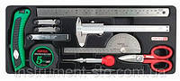 Набор мерительного инструмента 11ед. (в ложементе) GCAT1101 (Toptul, Тайвань), фото 1