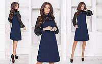 Платье женское с гипюром в расцветках 27626, фото 1