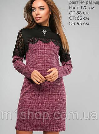 Женское ангоровое платье из двух тканей (3135 lp), фото 2