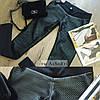 Лосины - стеганная эко кожа черные , фото 4