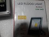 Светодиодный прожектор 10w 12-24V LED белый свет свдт, фото 2
