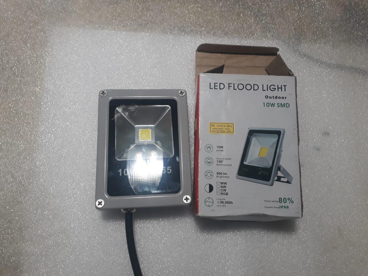 Светодиодный прожектор 10w 12-24V LED белый свет свдт