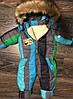 Детский зимний комбинезон на синтепоне с овчиной, фото 3