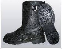 Сапоги комбинированные укороченные ВФ рабочие с пряжкой утепленные (Мех) бортопрошивные черные