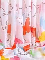 """Тюль в детскую """"Цветные Бабочки-2"""" шифон, фото 1"""