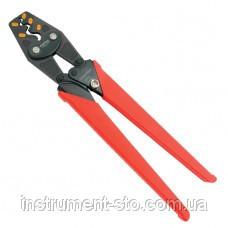 Клещи для обжимки клемм с трещоткой 5,5-8-14-22-38 кв.мм  L380мм DKBB2315 (Toptul, Тайвань)