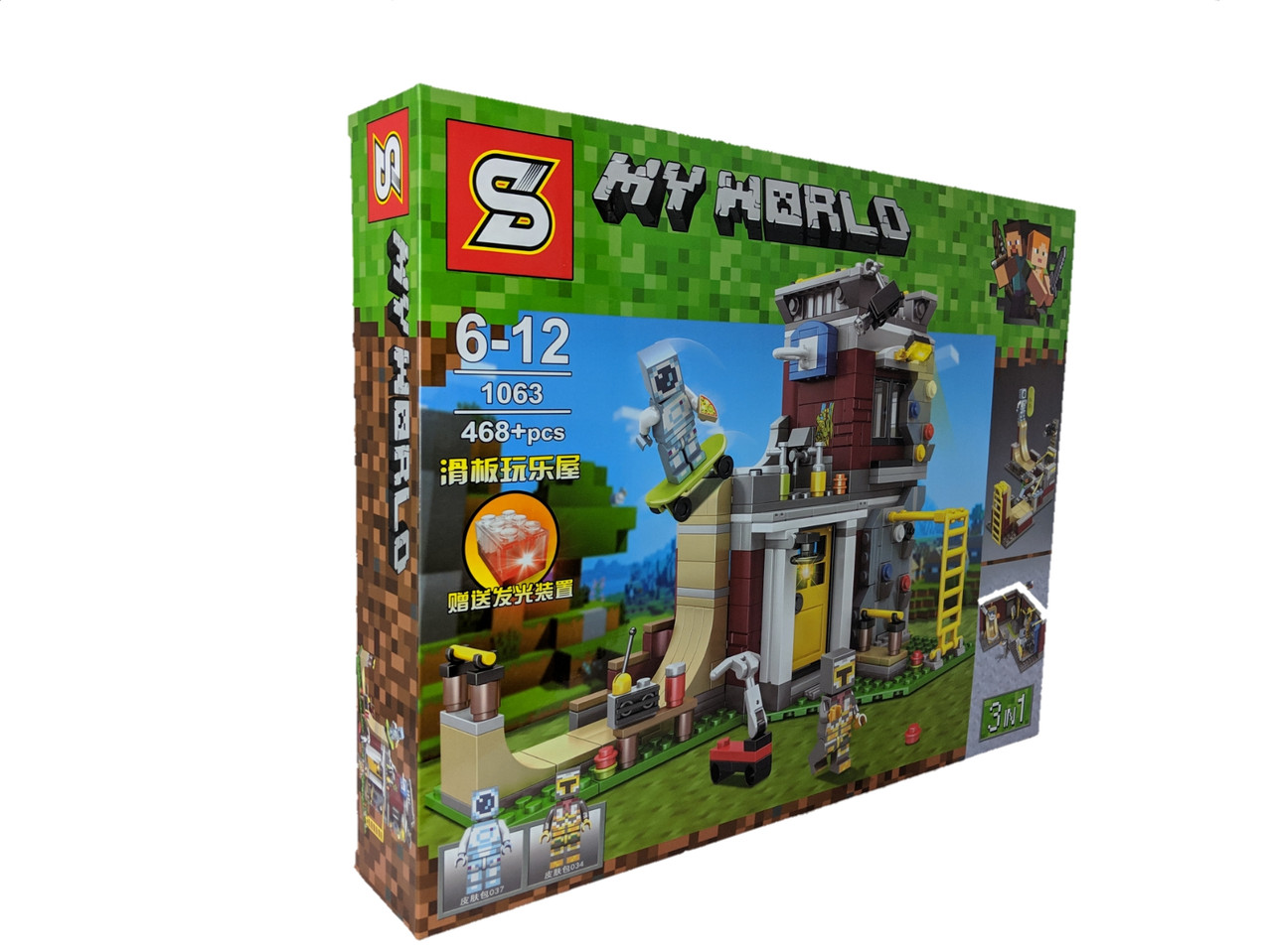 Конструктор My World 468 дет. ( копия Minecraft) 1063