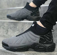 9c9dea1794d6 Nike Air Max TN Slip Grey Black   кроссовки мужские  серые-черные  осенние