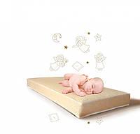 Детский матрас лен-кокос- холлофайбер 10 см Lux Baby