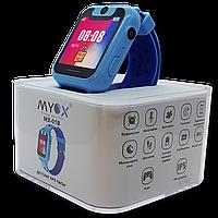 Детские GPS часы MYOX МХ-01B синие (камера + фонарик)