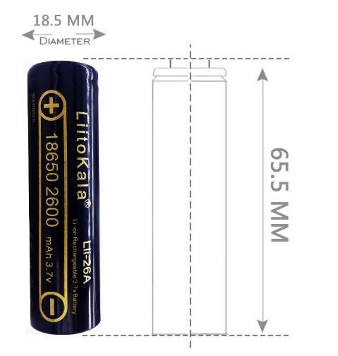 Аккумулятор 18650 Liitokala Lii-26A 2600 mAh