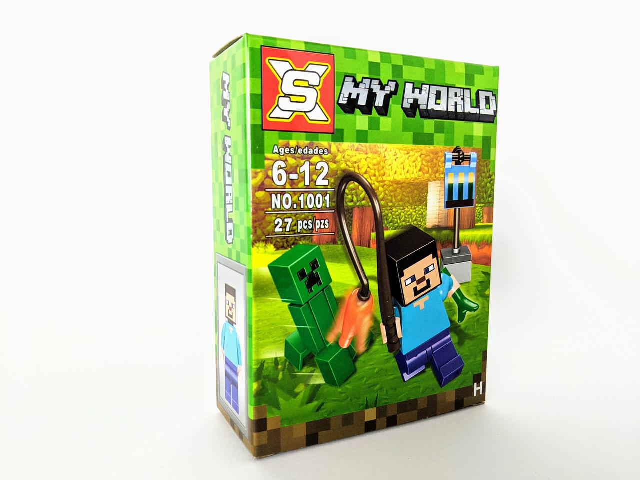 Конструктор My World 27 дет. ( копия Minecraft) NO.1001-2