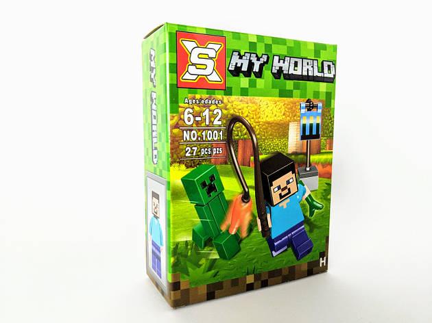 Конструктор My World 27 дет. ( копия Minecraft) NO.1001-2, фото 2