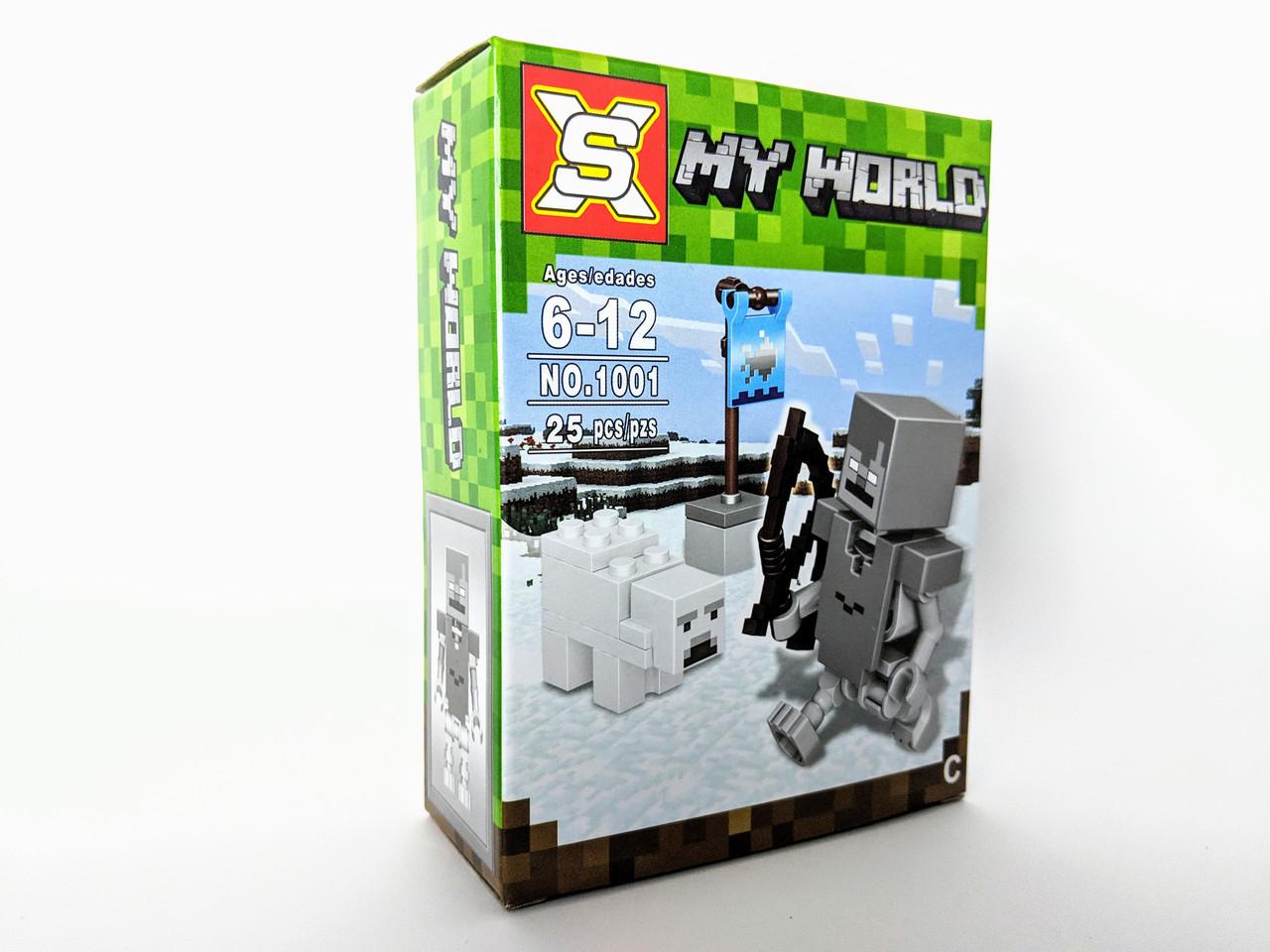 Конструктор My World 27 дет. ( копия Minecraft) NO.1001-3